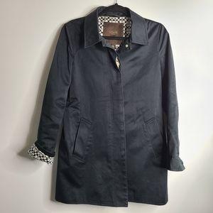 Coach Trench Coat Monogram Black trendy Size Small